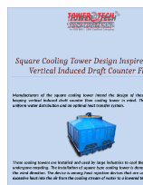 Manufacturers Of The Square Cooling Tower Intend The Design Of