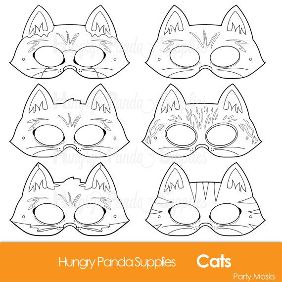 Cats Printable Party Masks To Print Cut Color Wear