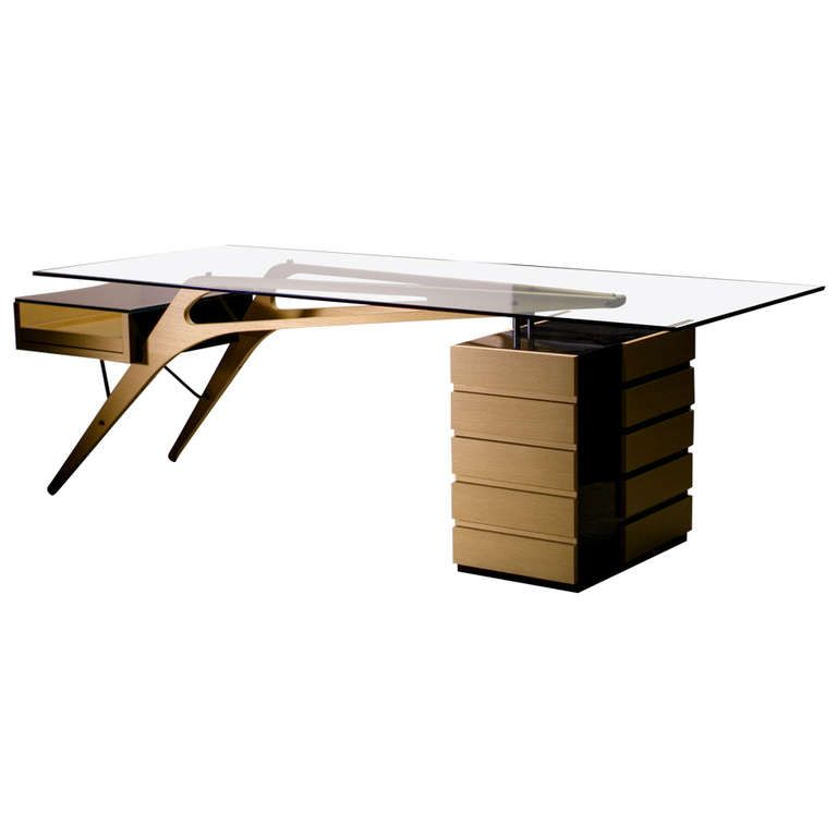 Zanotta Cavour Desk, Homage to Carlo Mollino From a