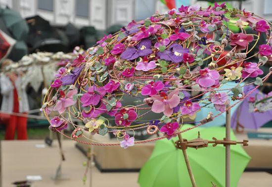 Flower Parasol Umbrella Decorations Floral Umbrellas Umbrella Wedding