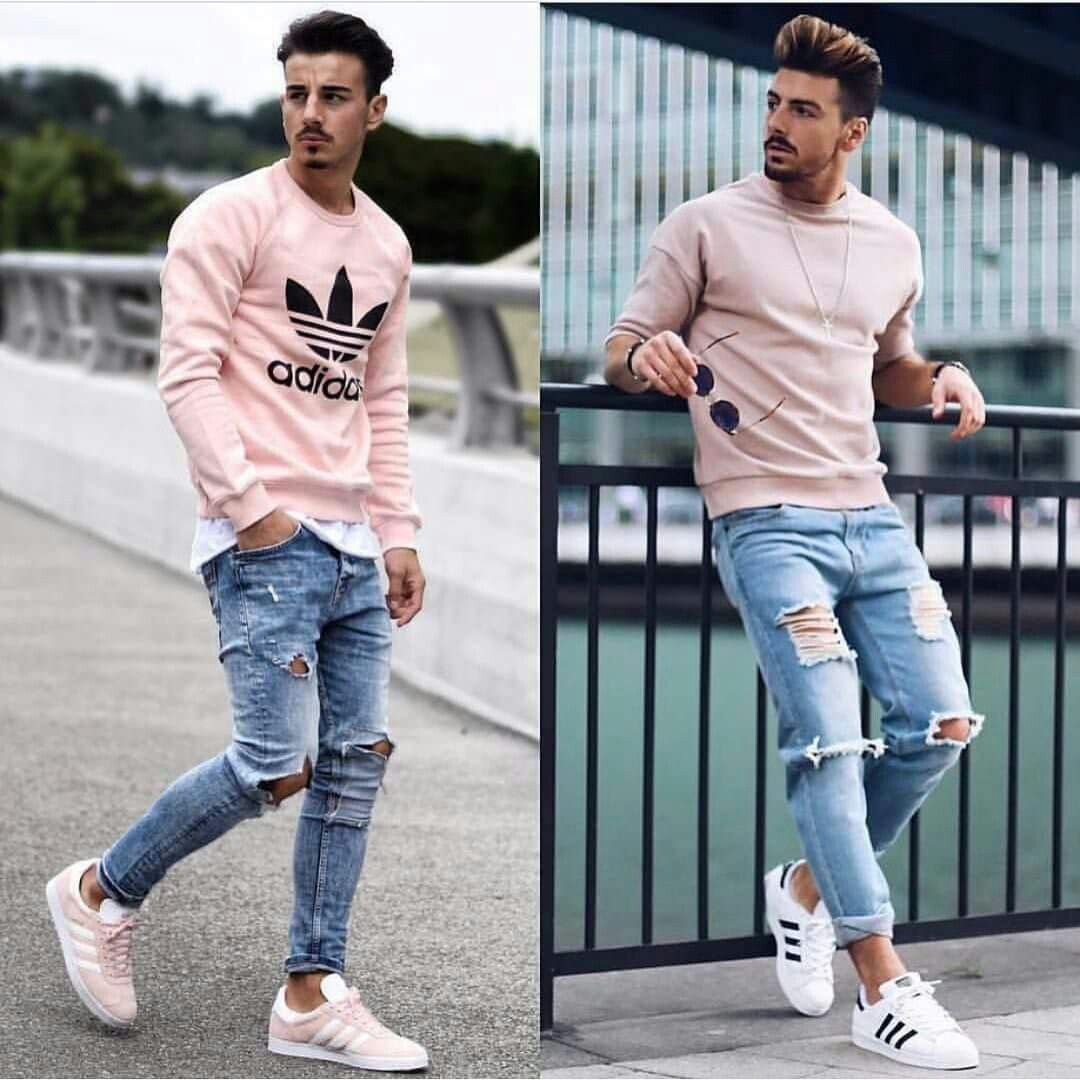 82513c5ee6 Men s fashion. Dare to wear pink. Awesome look