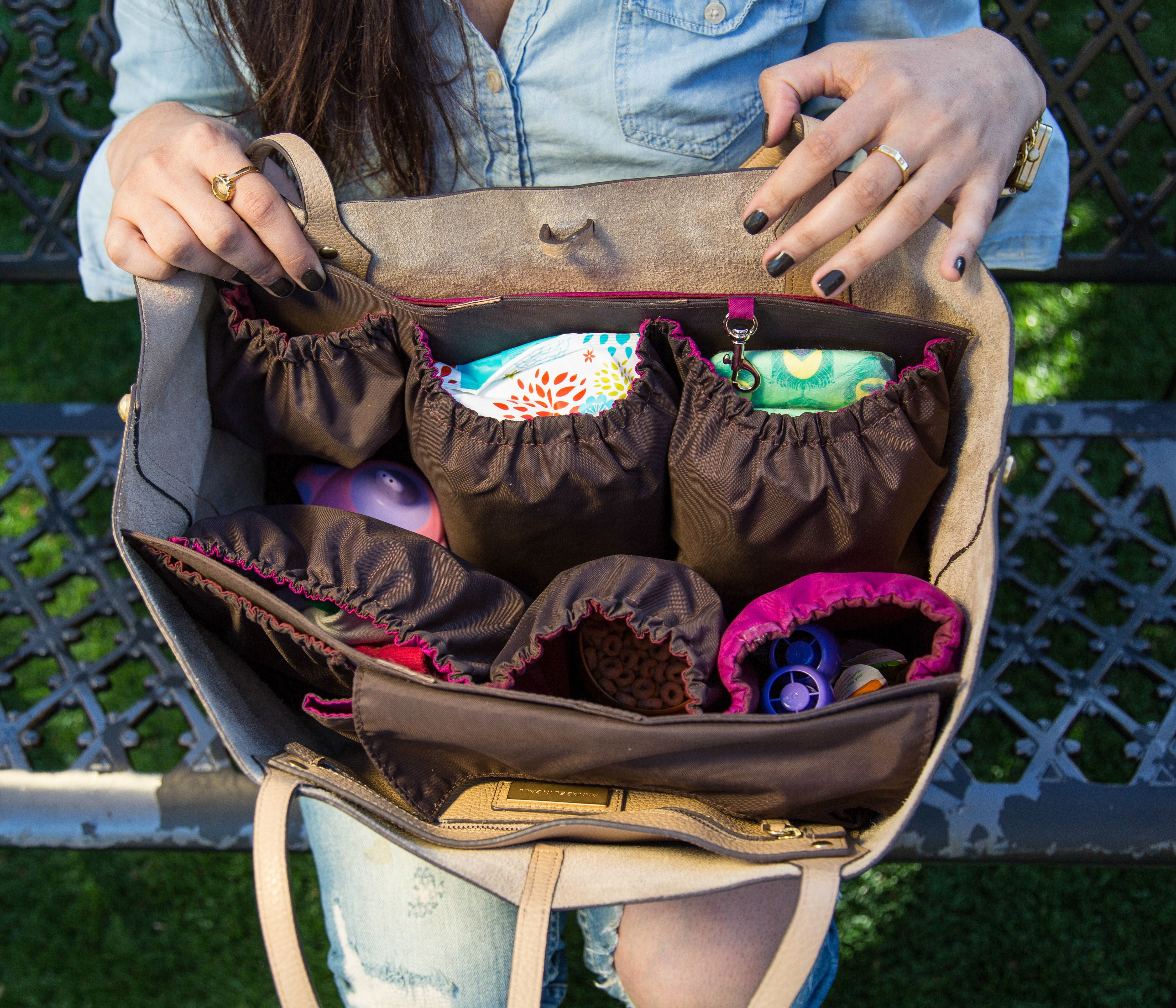 The Handbag Organizer From Life In Play Allows A Busy And Stylish Mom To Use Any Turn It Into An Organized Diaper Bag