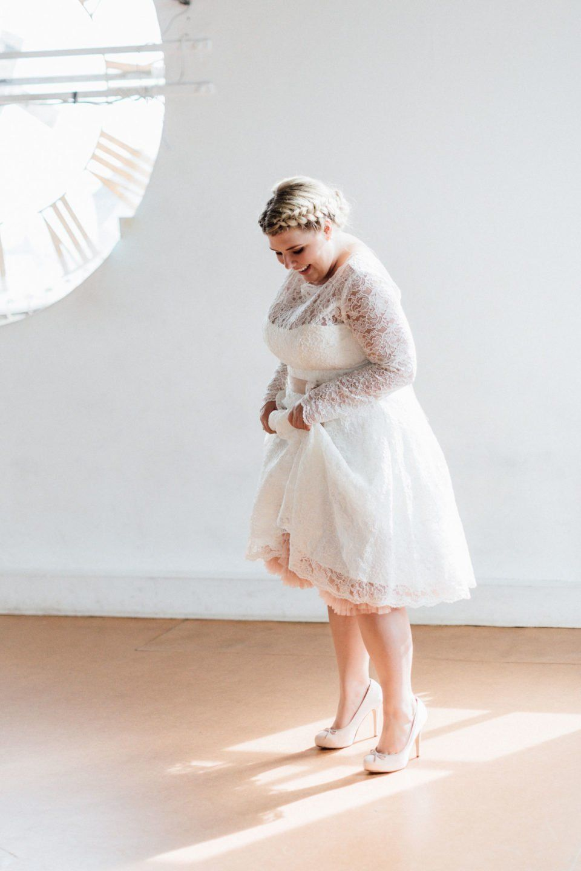 Kurze Brautkleider große Größen – it\'s Petticoat time! Hier mit ...