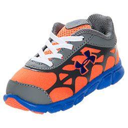 Boys' Toddler Under Armour Spine Vice Running Shoes| FinishLine.com | Charcoal/Orange/Royal
