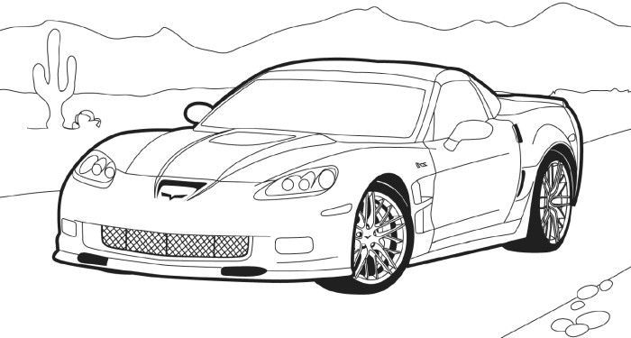 Corvette Stingray Coloring Pages Corvette Stingray Corvette