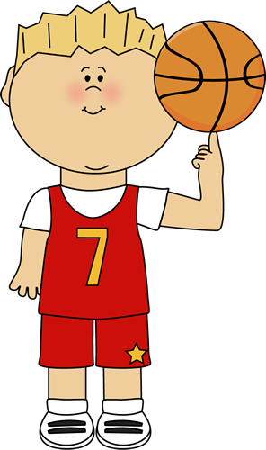 Clip Art Boy Playing with Ball