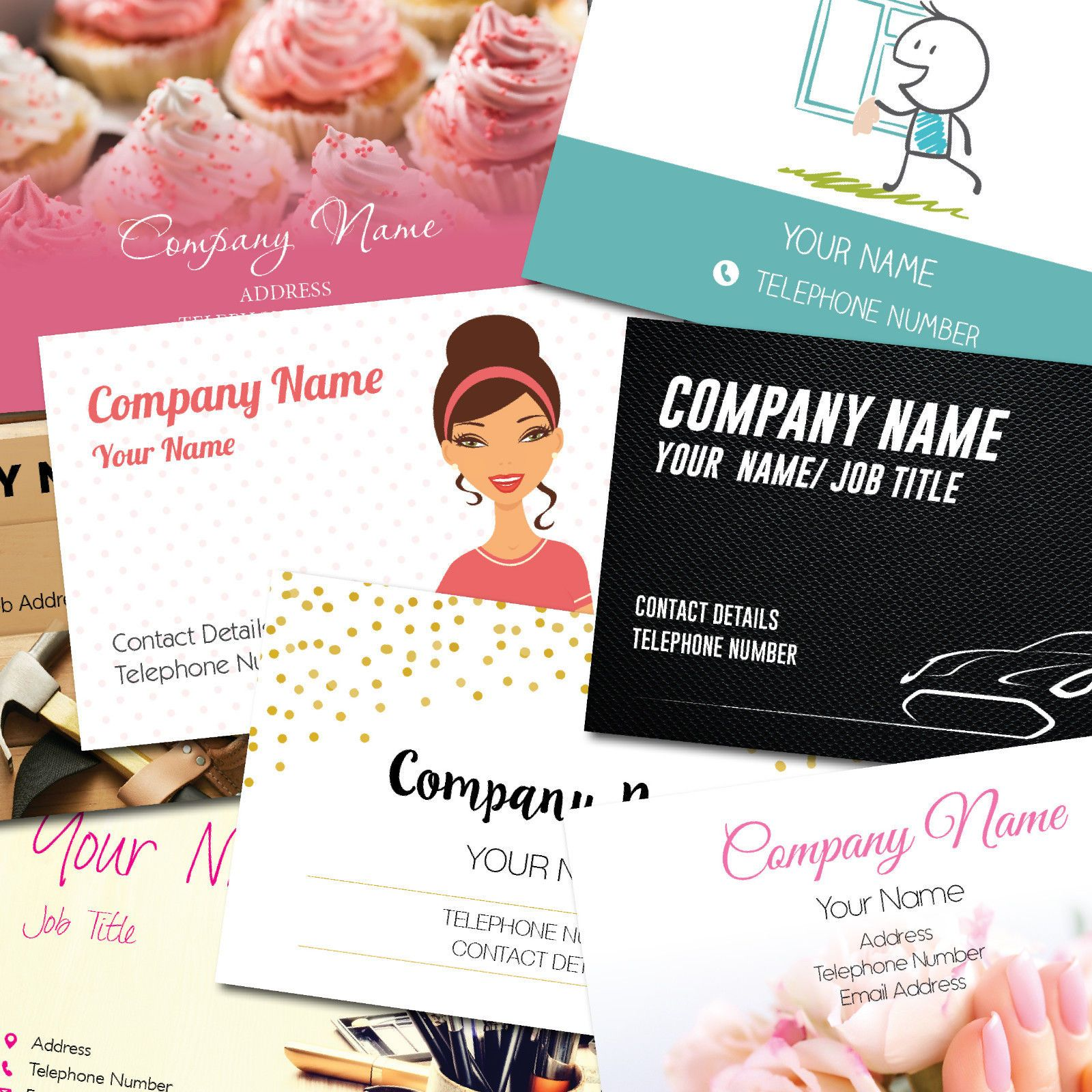 Personalised Business Cards Customise Create Your Own Personal