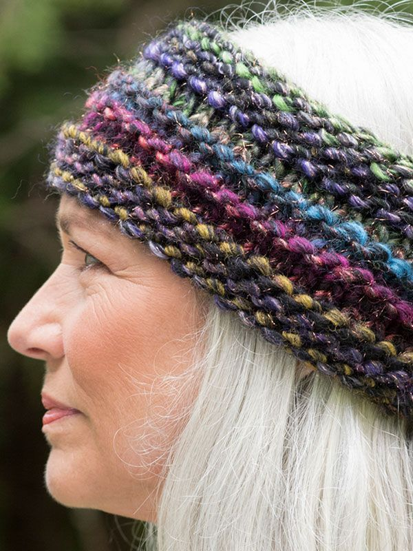 Free Knitting Pattern for Quinoa Headband - Super bulky multi-color ...