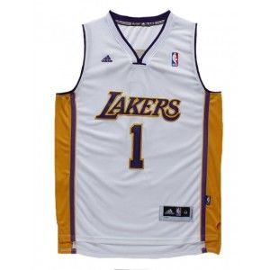 df3ed55b9 ... Mens Los Angeles Lakers DAngelo Russell Number 1 Jersey White http ...