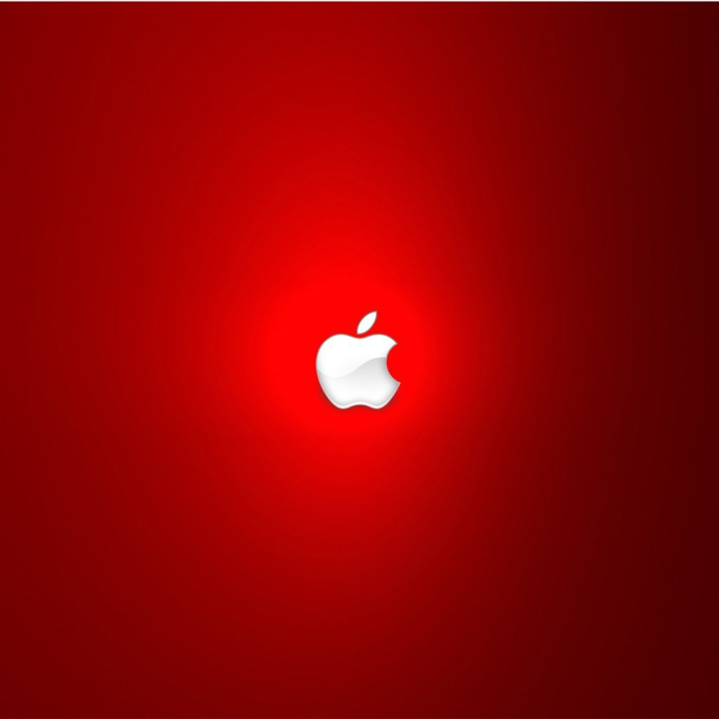 Strong Red Apple Logo iPad Wallpaper HD Wallpaper Apple