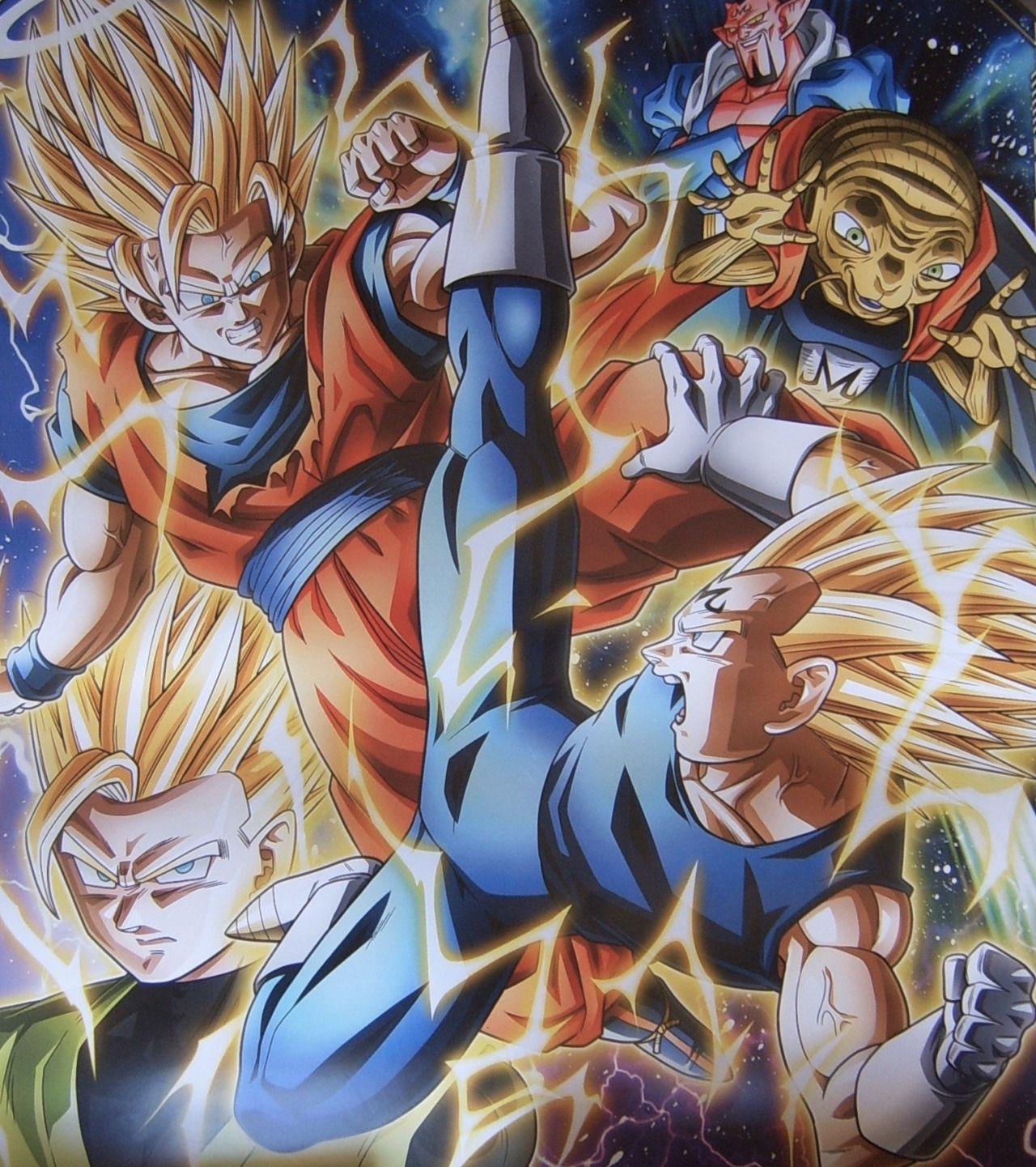 Vegeta Goku Gohan Babidi And Dabura Anime Dragon Ball Dragon Ball Art Dragon Ball Z