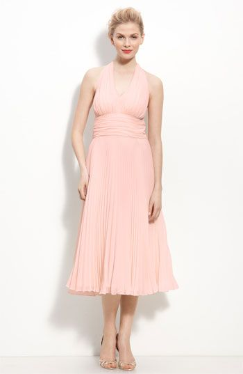 This is for: Gloria and Lia (Brenda if desired)  Please order ASAP. Sizes run SMALL--order based on measurements!!   Donna Morgan Pleated Chiffon Halter Dress   Nordstrom