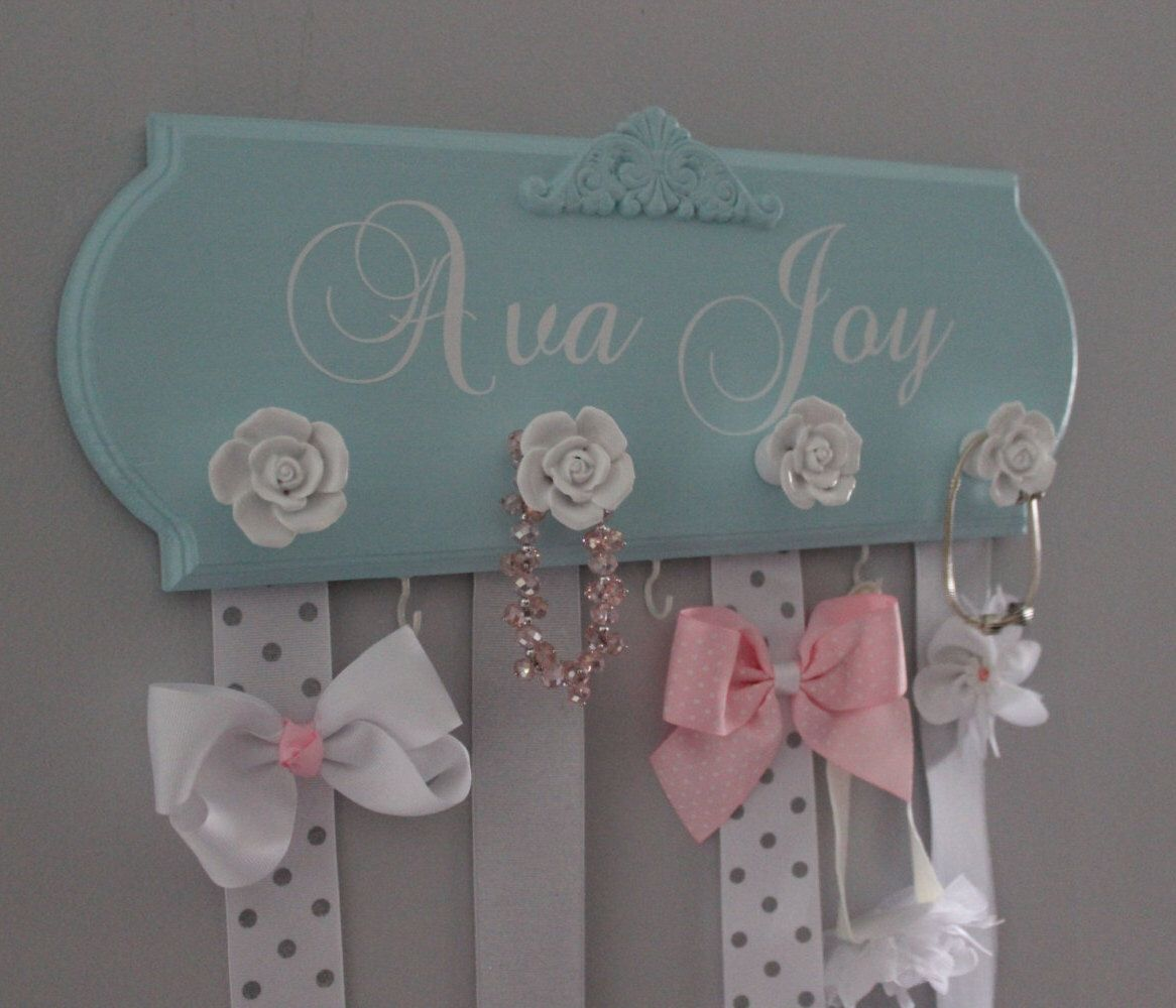 Bow holder, monogram hair bow holder, bow organizer, girl