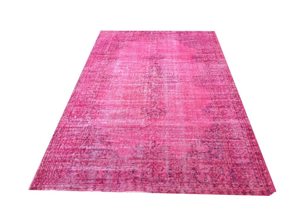 6 X3 1 Vintage Pastel Soft Pale Pink Ushak Overdyed Rug Carpet
