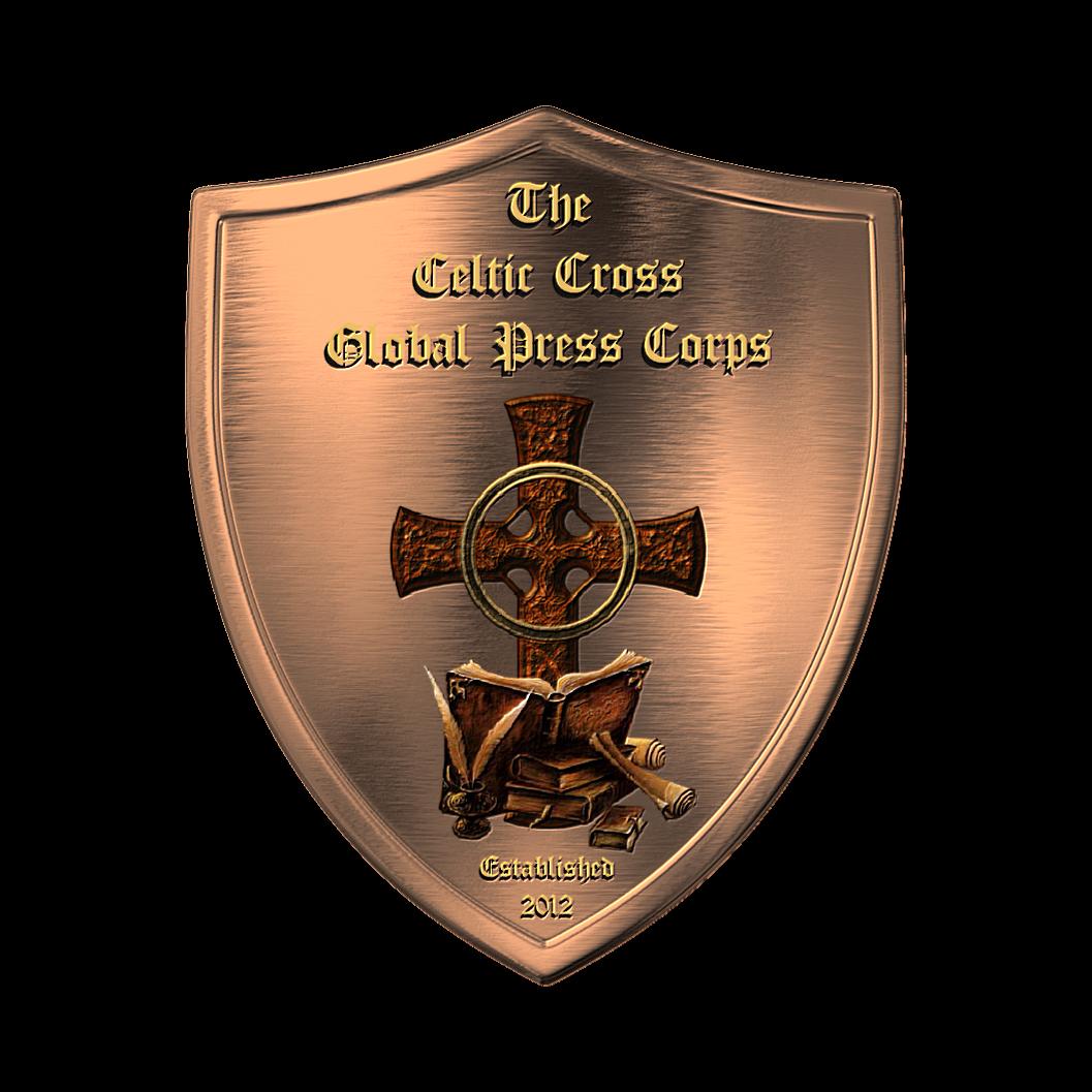 Celtic Cross Global PRESS Corps Shield Celtic cross