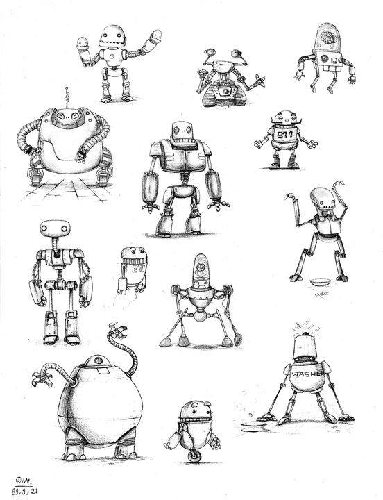 Robot Sketch By Darkzside Deviantart Com On Deviantart Characters