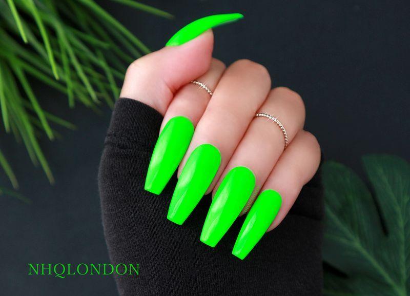 Hype Green Acrylic Nails Neon Green Nails Lime Green Nails