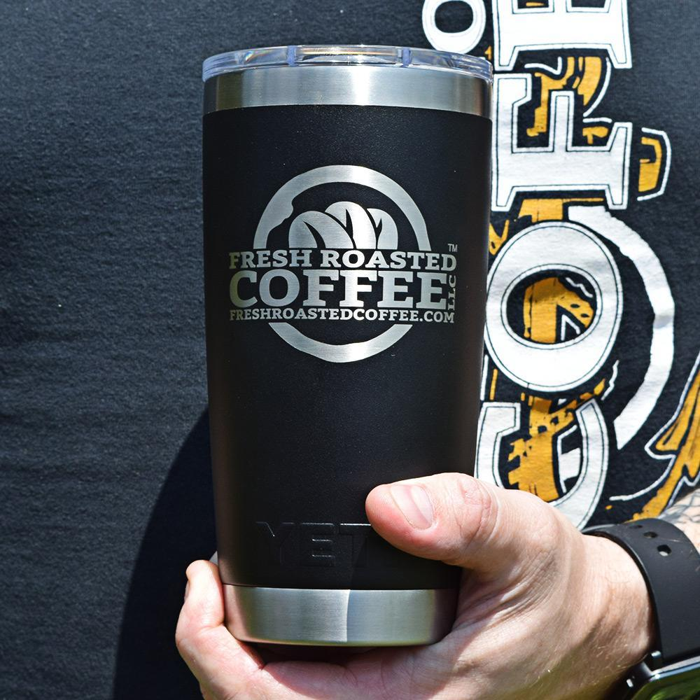 20 oz. Black DuraCoat™ YETI Tumbler with Fresh Roasted