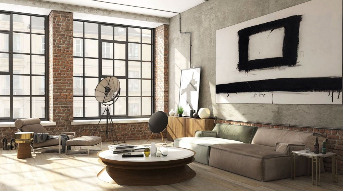 Industrial Style Living Room Design The Essential