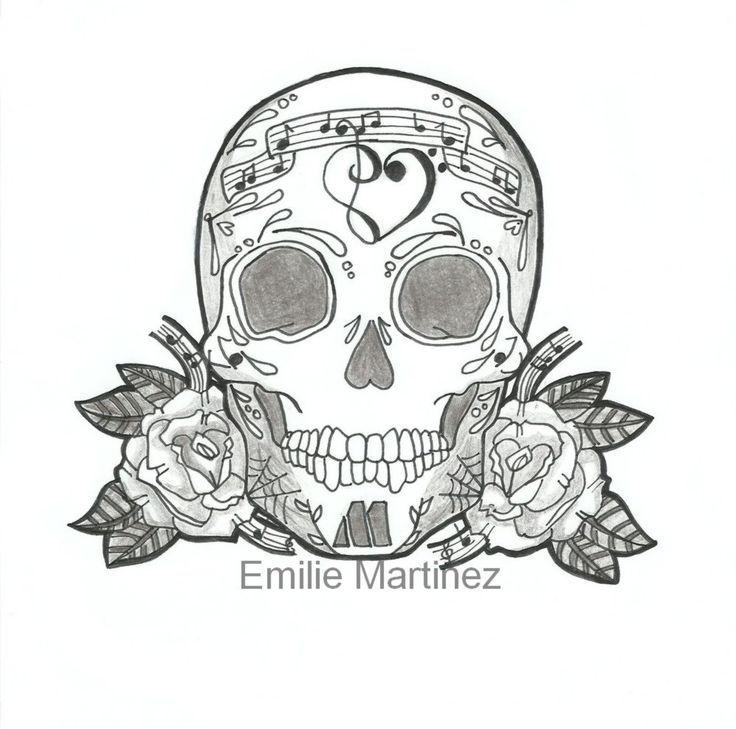 2714b7f7190e7 skull music tattoo sugar skull designs mexican skulls music logo sugar .