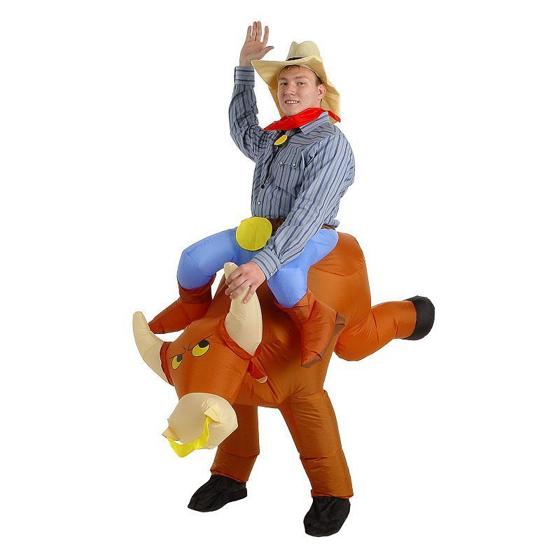 The Illusion Bull Rider Costume - Adult, Men\u0027s, Size Inflatable - halloween costumes ideas for men