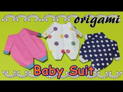 Photo of DIY origami baby suit   How to make a paper craft baby clothes idea   Origami easy 1 piece of paper