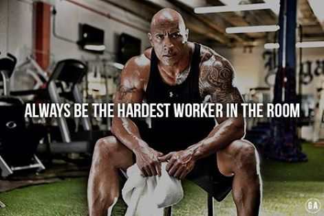 Always Be The Hardest Worker In The Room Gym Motivation Gym