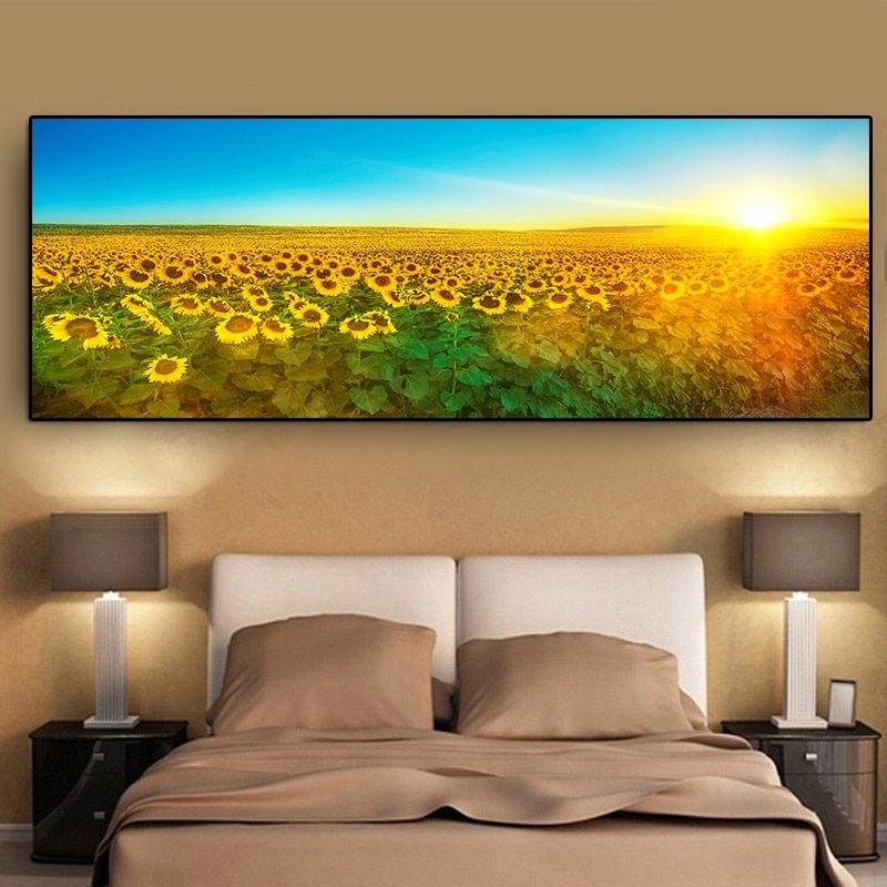 HD Canvas Print Home Decor Living Room bedroom Sunflower Wall Art Oil Paintings