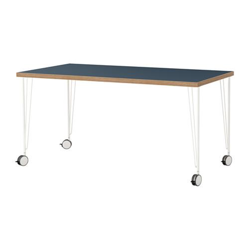 linnmon krille table bluewhite ikea 90 - Table A Roulette Ikea