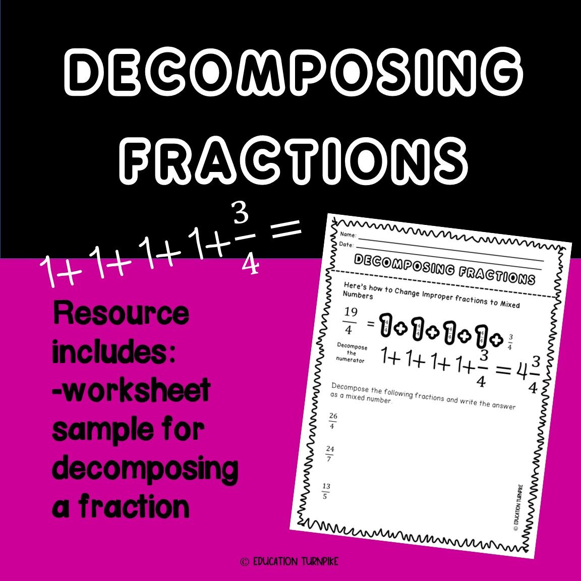 Decomposing Fractions Handout