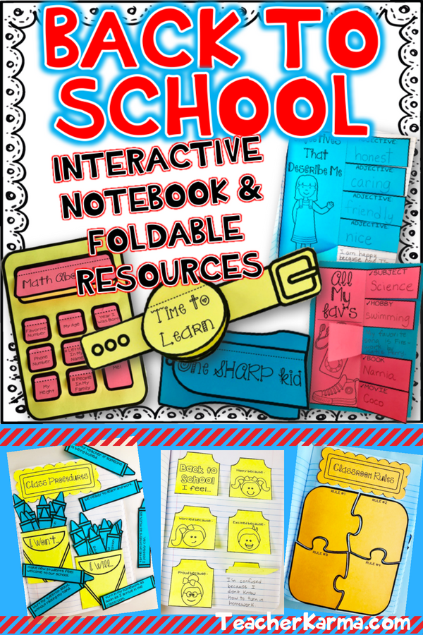 Back To School Interactive Notebook And Foldables These Are Perfect For Your Students
