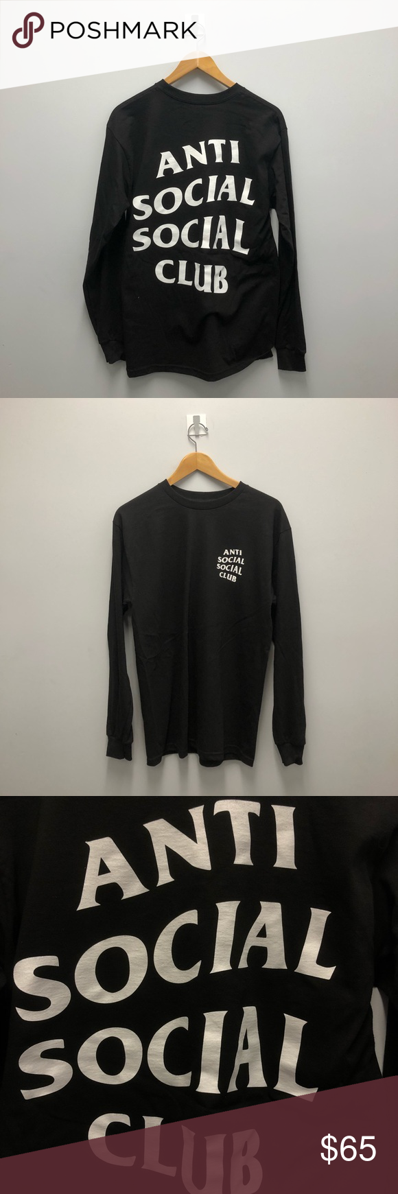 d9bd4b7b8768 Anti social club shirt Authentic anti social club long sleeve sleeve  Getting rid of my Assc lot Fits true to size Great condition 10 10  Accepting reasonable ...