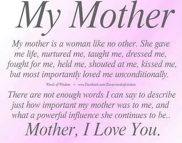 mother poems that will make her cry | Easier Said Than Done: Im ...
