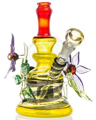 Heady glass pieces are always some of the most unique and artistic water pipes that money can buy.  sc 1 st  Pinterest & grog glass 2 flower lemon drop dual use water pipe | Dab Rigs u0026 More ...