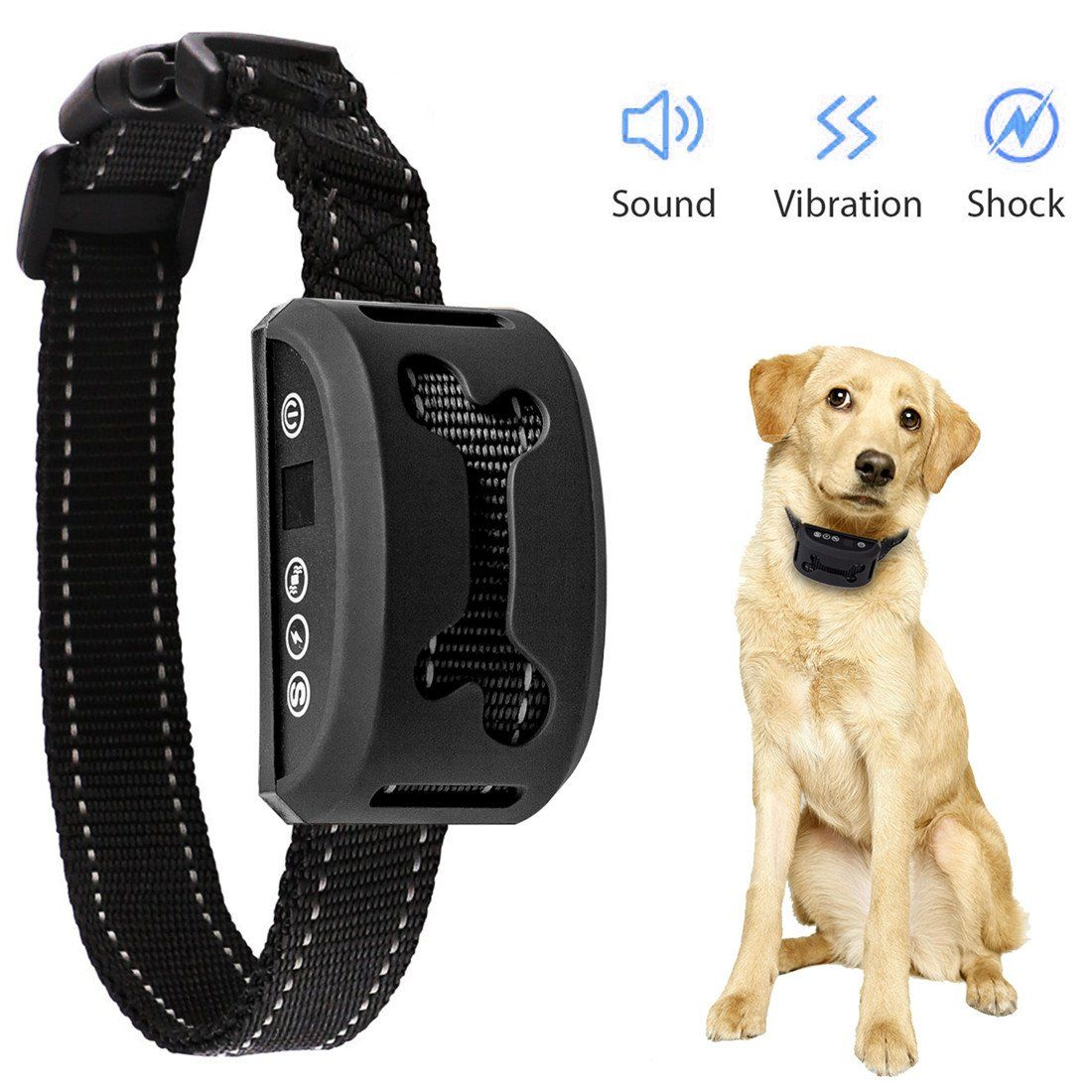 Dog Training Collar Rechargeable Rainproof Anti Bark Collar Small