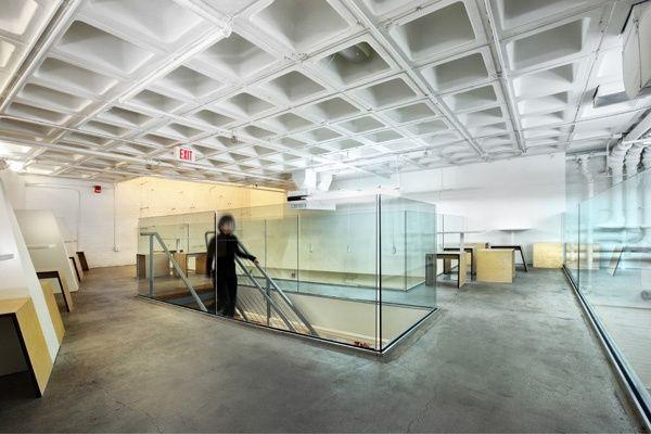 On The Mezzanine, Glass Guardrails Form A 'vitrine' Around