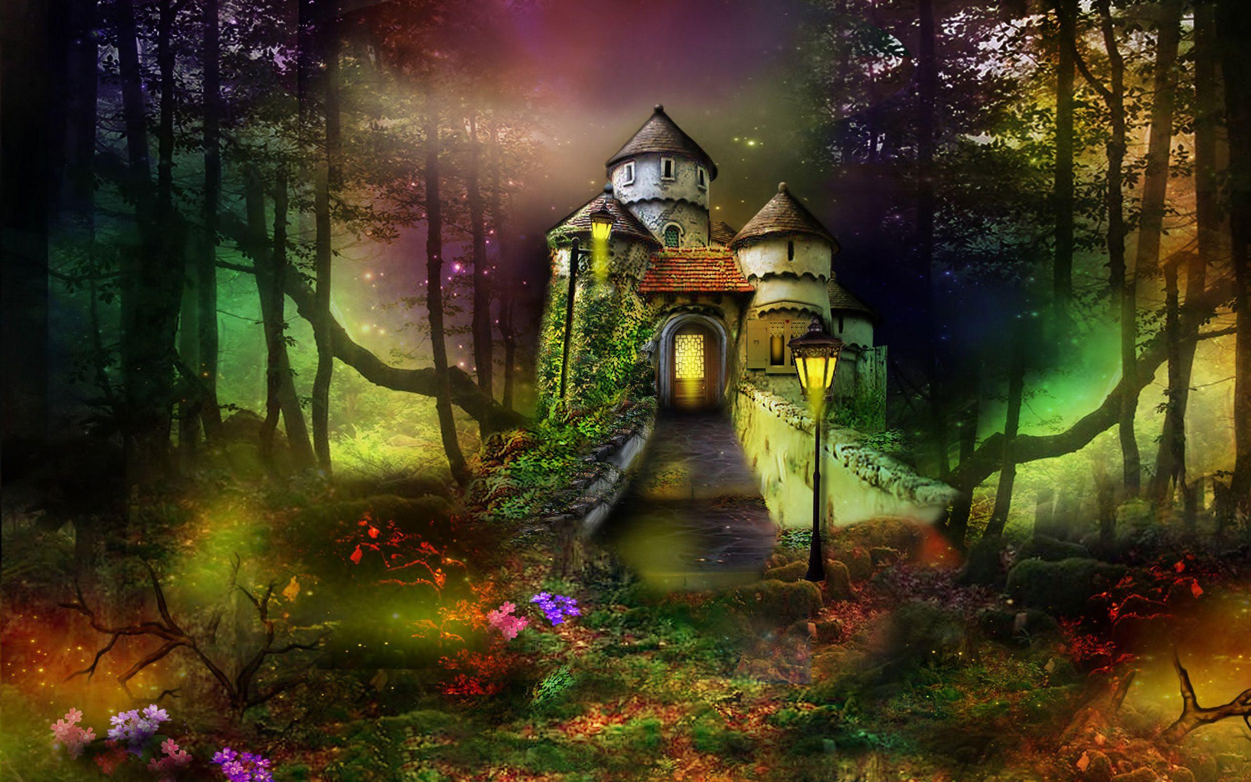 Phantasmagoria Castle Fantasy Forest Fantasy Castle New Wallpaper Hd