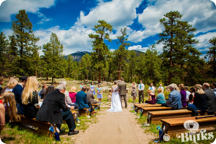 Mountain Wedding Ceremony At Ymca Of The Rockies Estes Park Mountainside Outdoor Chapel Weddings Pinterest And