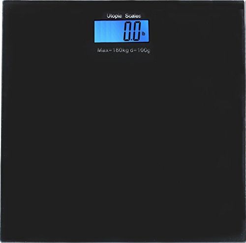 Utopia Scales USJK B01 7 Tempered Glass Digital Bathroom Scale With LCD  Display (Black) 180kg. Capacity Perfect For Weight Regulation At Home Or In  The Gym ...