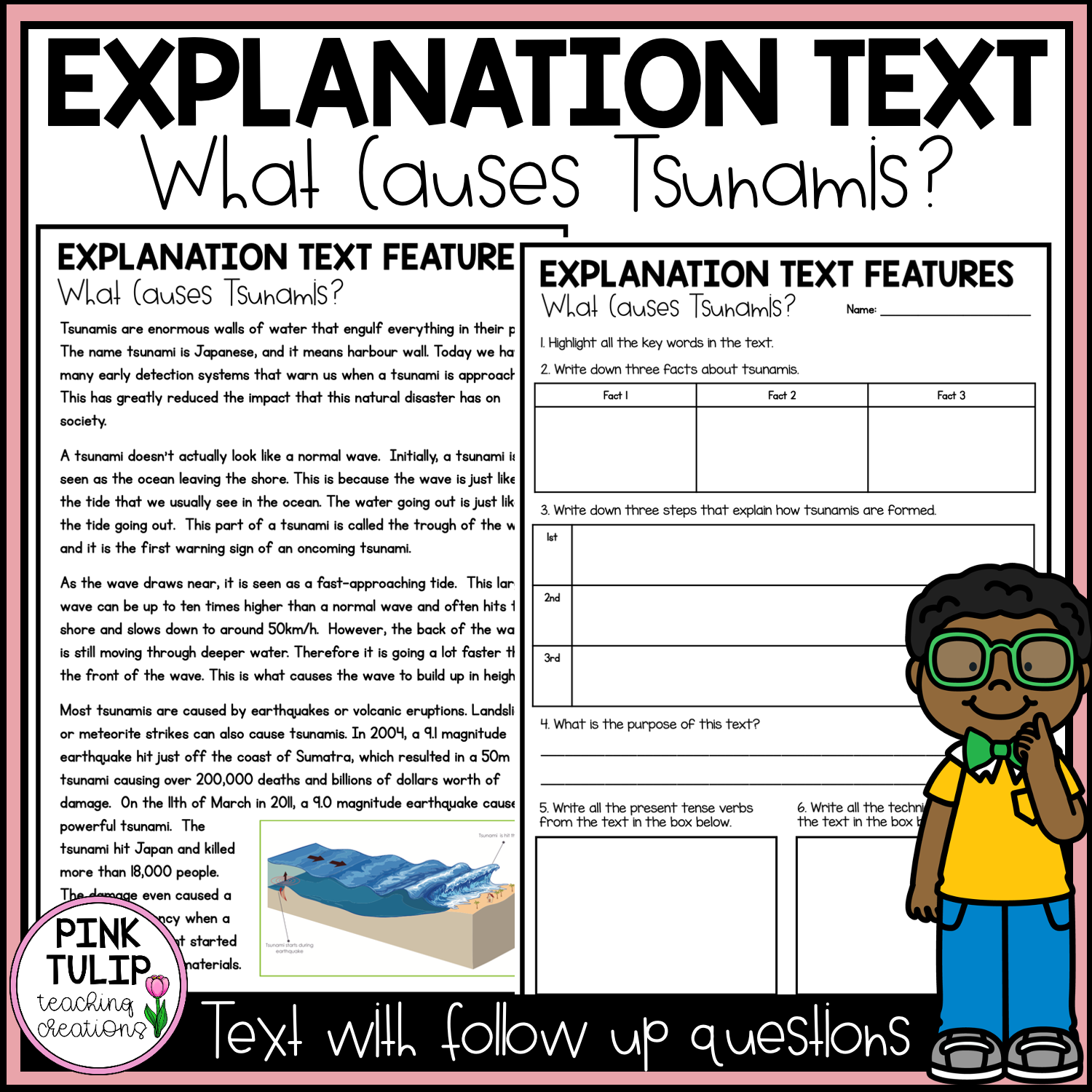 hight resolution of Explanation Text - What Causes Tsunamis?   Explanation text