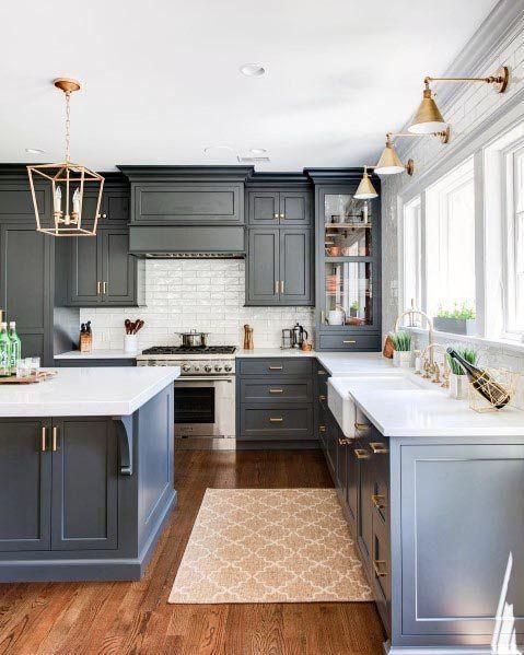 Top 50 beste graue Küche Ideen – raffinierte Interior Designs - Mann Stil | Tattoo