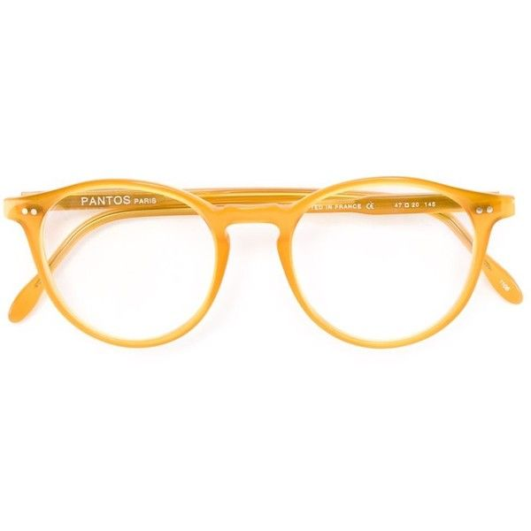 9fe09b1b4158 Pantos Paris round frame optical glasses ( 205) ❤ liked on Polyvore  featuring accessories