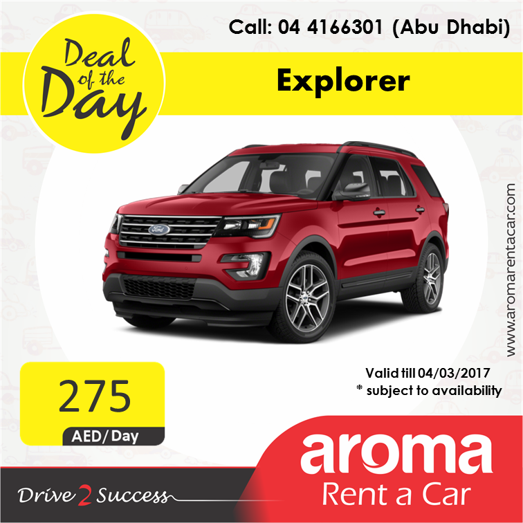 Rent A Car Daily Aroma Rent A Car Offers Deal Of The Day Abu