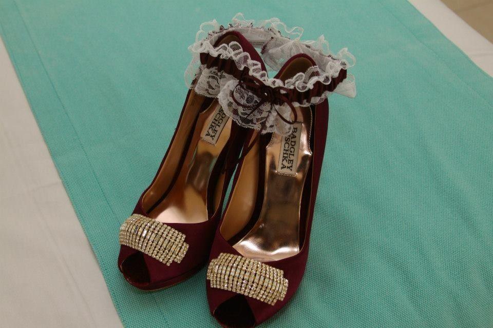 Eggplant Wedding Shoes - Wedding Photography