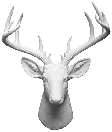 The Xl Templeton Modern White Deer Head Wall Decor In 2019