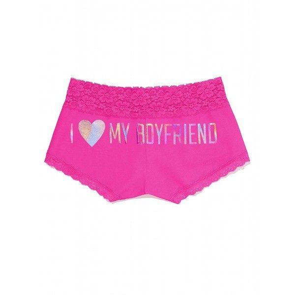 Size Small Victorias Secret Pink Lace Trim Boyshort Red