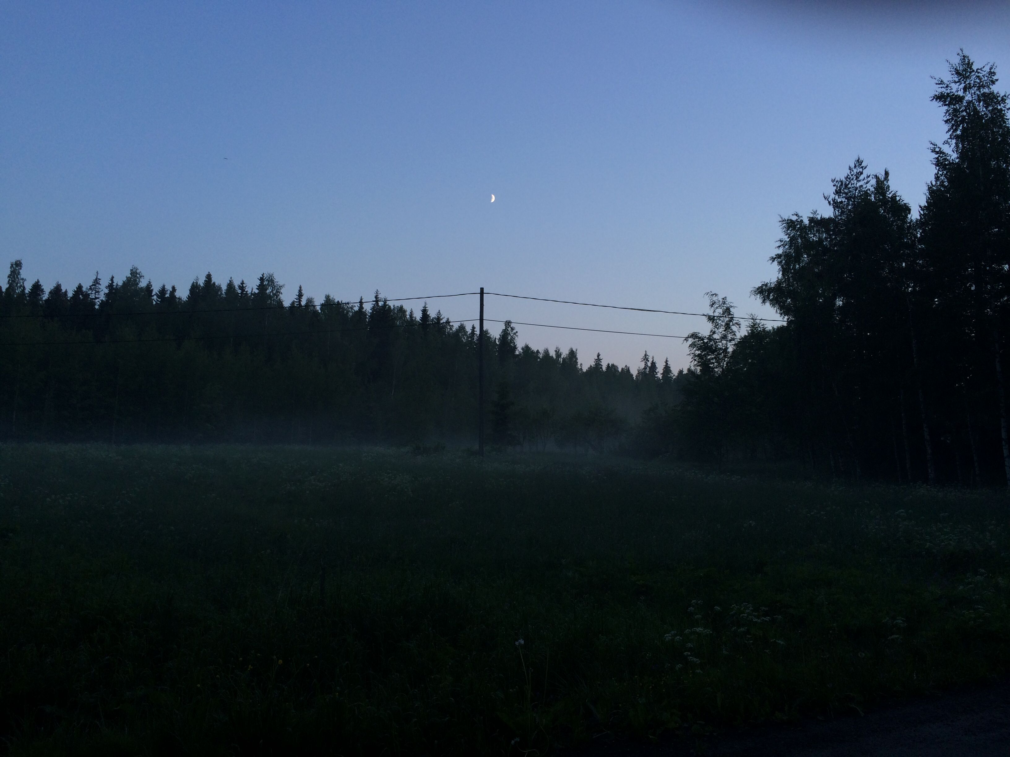 Summer night filled with mist from Finland © O