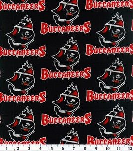 Tampa Bay Buccaneers Nfl Cotton Fabric Need This For The Husband Fabric Buccaneers Tampa Bay Buccaneers
