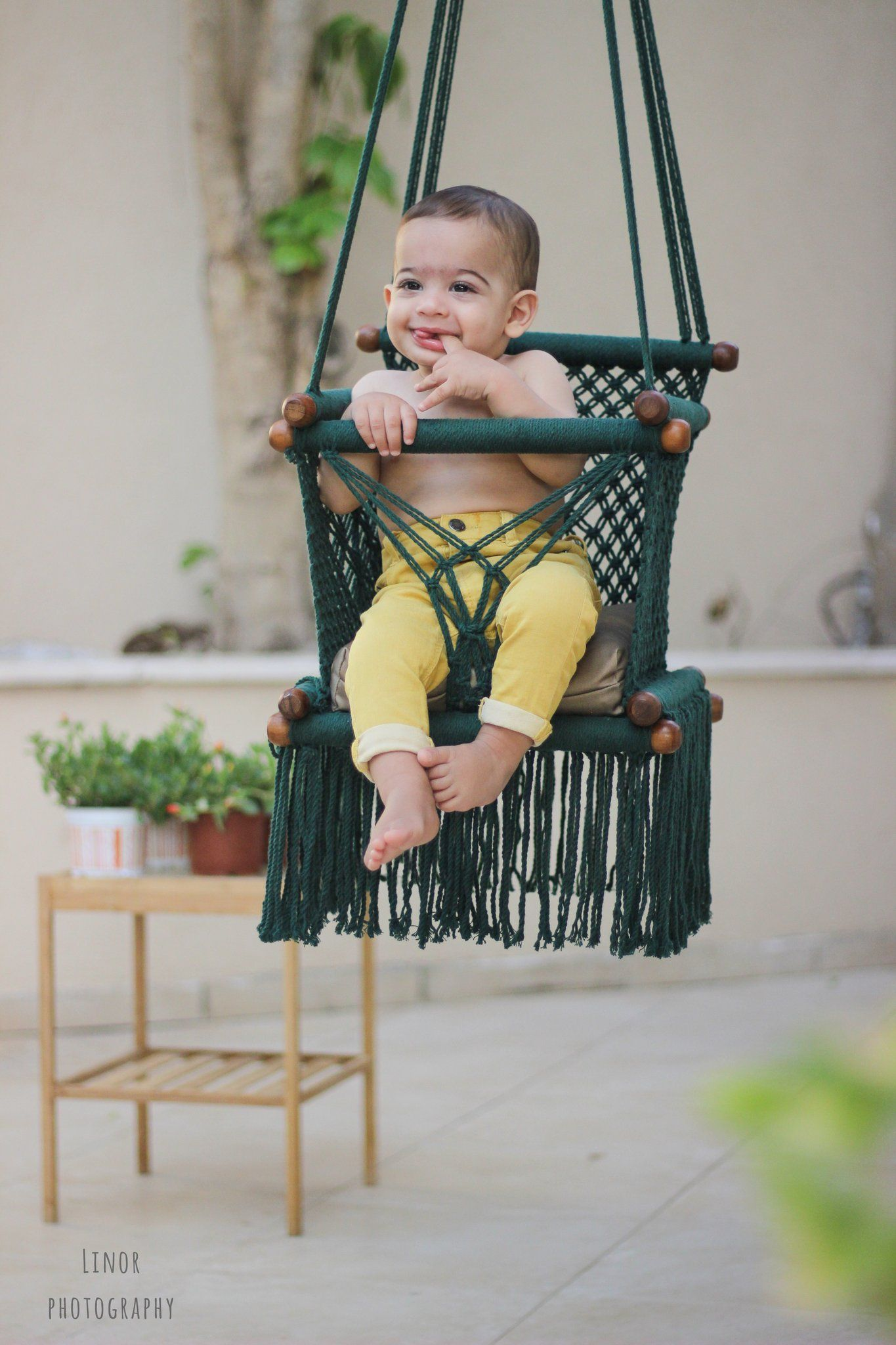 Baby swing chair in dark green baby swing chairs pinterest