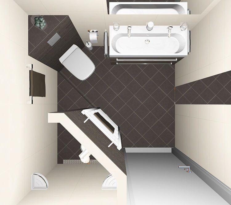 Kleine badkamer ontwerpen 200x200cm sani maakt for Inrichting badkamer 3d